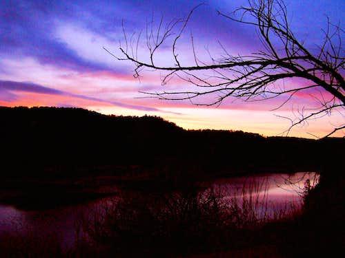 Cold Brook Winter Sunset