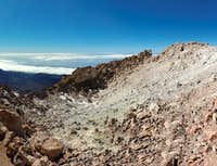 Looking inside the crater of Teide