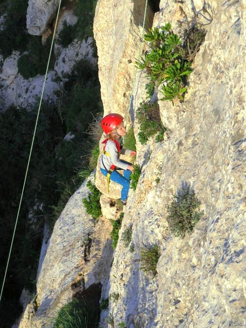 Young climber at Wied Babu