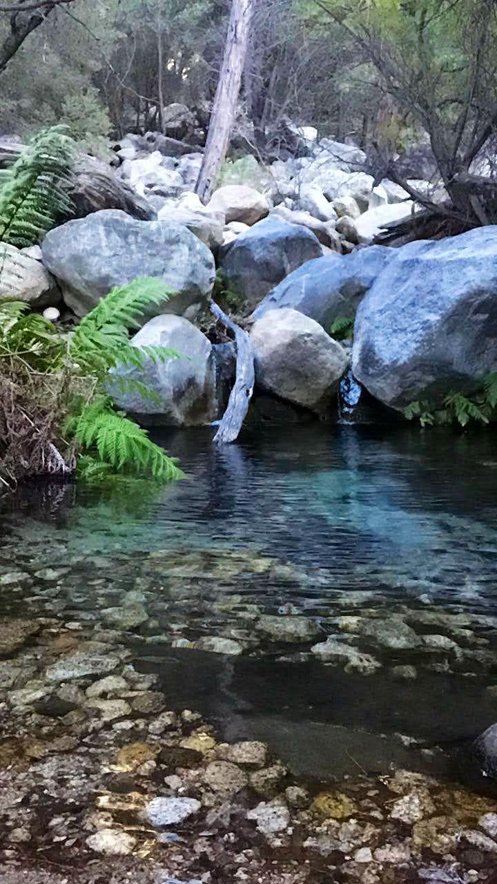 water at near campo noche