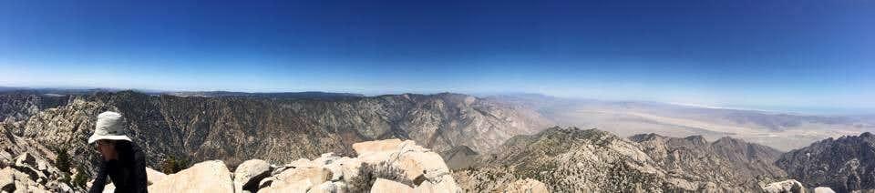 Picacho del diablo 360 panoramic part 1 West face