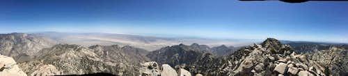 Picacho del diablo Summit view 360 part 2 East face