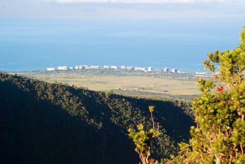 Kaanapali Resorts about 2000 ft below