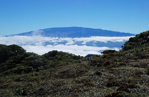 Haleakala 25 miles away