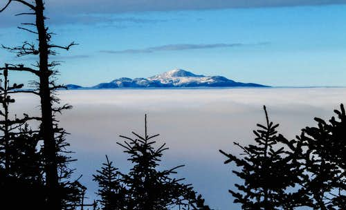 Mt Washington and the Presidential Range seen from Mt Mount Passaconaway during cloud inversion
