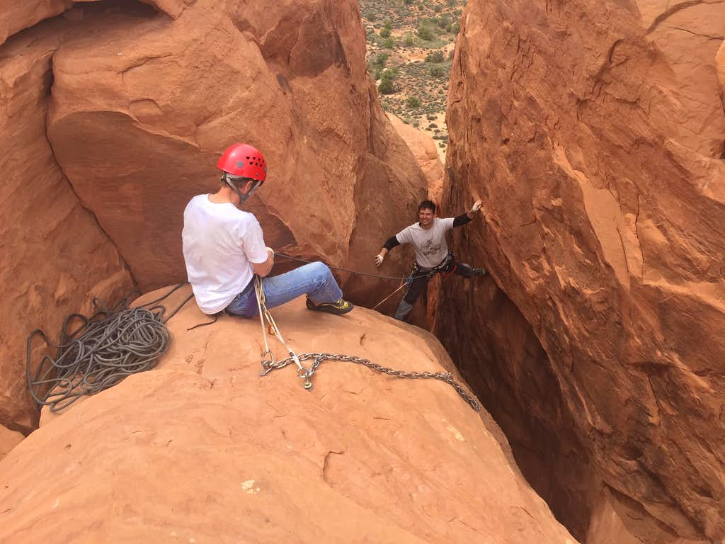 Topping out Off Balance Rock
