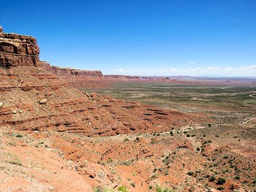 Valley of Gods from Moki Dugway