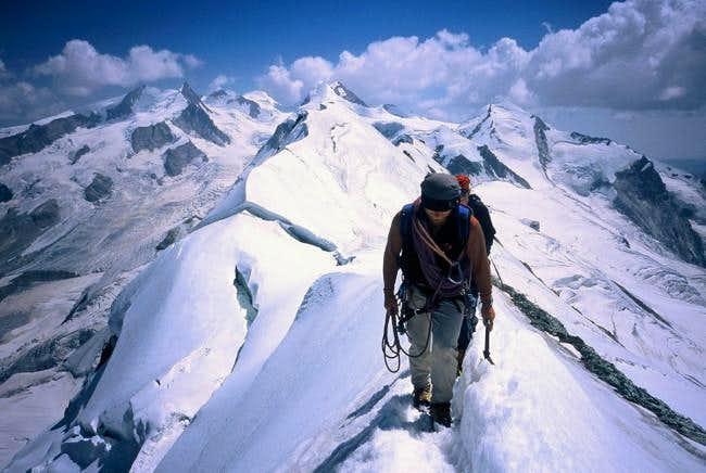 On the ridge between the...