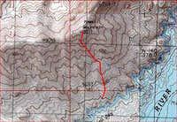 Powell Mt S Ridge topo