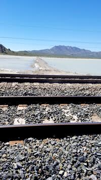 Railroad crossing near Desert Peak