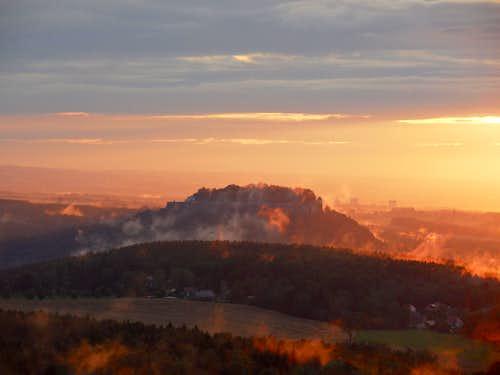 Fortress Königstein in Saxon Switzerland