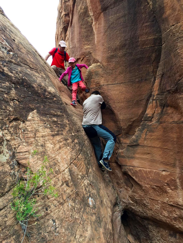 Easy down climb