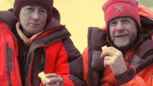 Yesterday on Annapurna, 14th 8000 for Nives and Romano