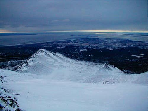 Looking out over Anchorage...
