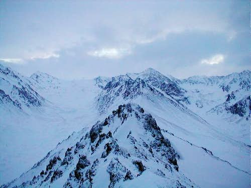The view into the Chugach...