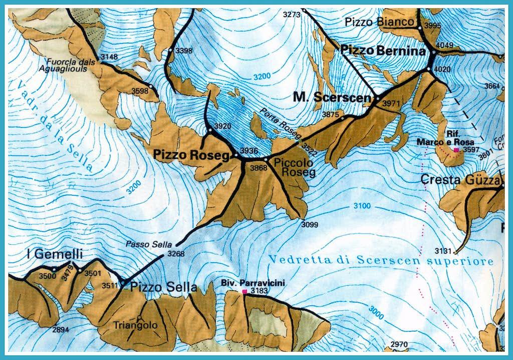 Piz Bernina map