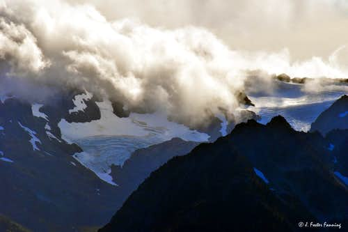 Mount Olympus Receding Glaciers