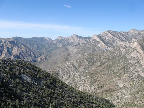 Looking South Across Red Rock Canyon