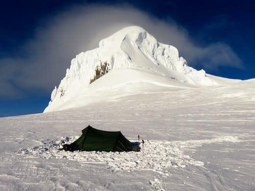 Camping right next to Hvannadalshnúkur