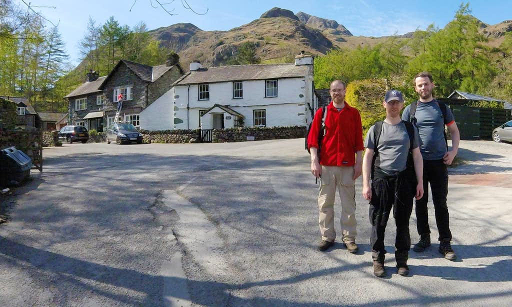 Three Lancashire lads at New Dungeon Ghyll
