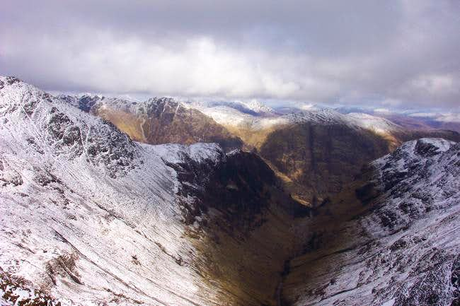 A veiw down to glen Coe from...