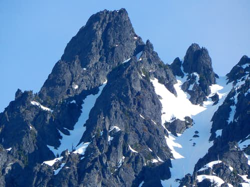 South Gemini Peak summit closeup from Monte Cristo townsite