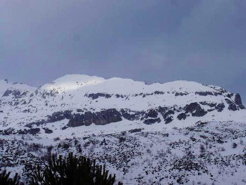 The Pico de Peña Blanca in...