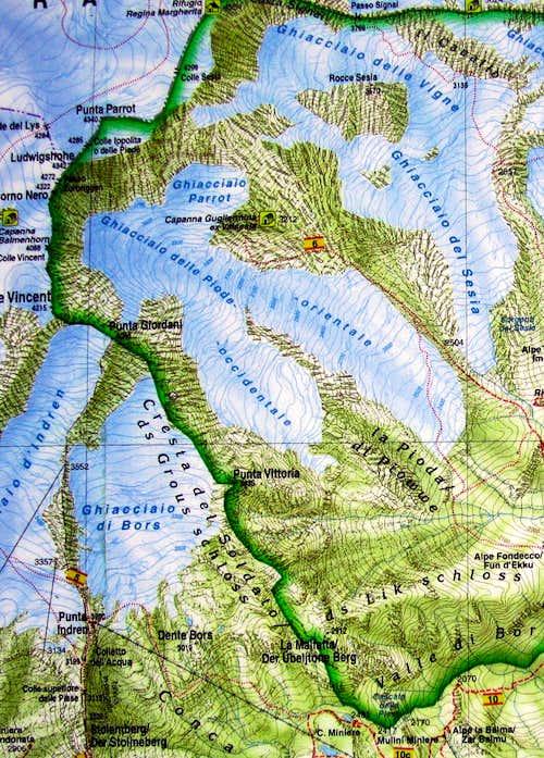 Punta Giordani map
