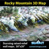 3D Raised-Relief Wall Maps