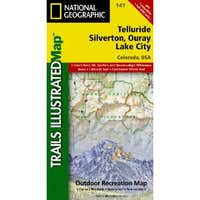 Telluride, Silverton, Ouray & Lake City, Colorado - Trails Illustrated Maps #141