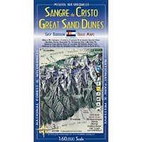 Sangre de Cristo Wilderness & Great Sand Dunes National Park Trail Map 3rd Edition